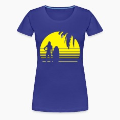 BEACH SURFING GIRL PALME 1C T-Shirts