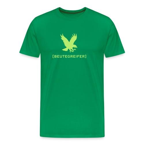 Herren Shirt Adler Beutegreifer hellgrün Tiershirt Shirt Tiermotiv - Männer Premium T-Shirt