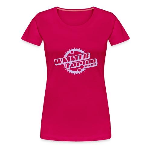 Womens WMMTB Forum 'Logo' tee (lilac print) - Women's Premium T-Shirt