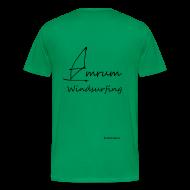 T-Shirts ~ Männer Premium T-Shirt ~ Amrum Windsurfing (Beidseitig)