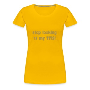Stop Looking Skinny Sparkly Gold - Women's Premium T-Shirt