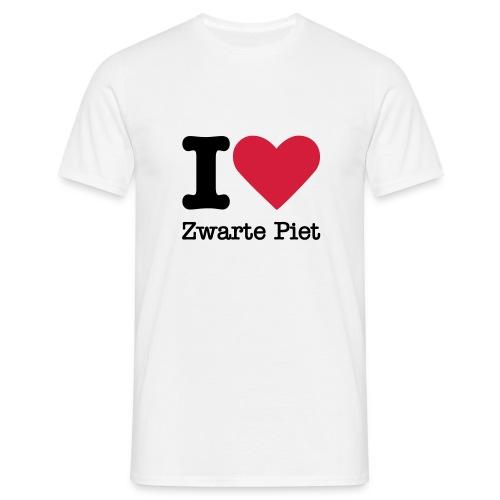 I Love Zwarte Piet - Mannen T-shirt