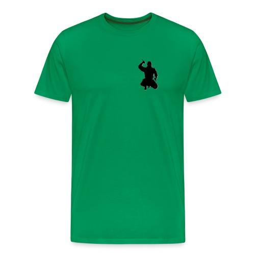 Herren T-Shirt kniender Ninja, farbig - Männer Premium T-Shirt
