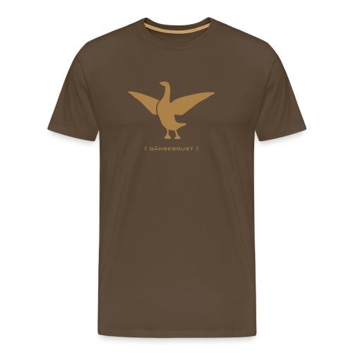 Herrenshirt Gans Gänserich Gänsebrust hellbraun Tiershirt Shirt Tiermotiv - Männer Premium T-Shirt