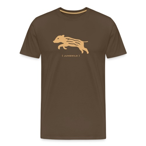 Herren Shirt Wildschwein Ferkel Jungwild sand Tiershirt Shirt Tiermotiv - Männer Premium T-Shirt
