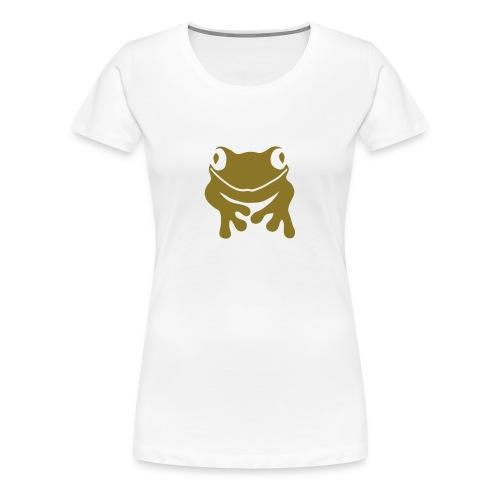 Damen Shirt Frosch Unke gold matt Tiershirt Shirt Tiermotiv - Frauen Premium T-Shirt