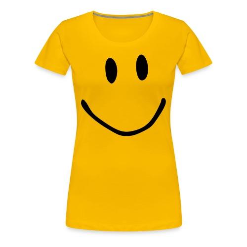 Smile yellow tee - Women's Premium T-Shirt