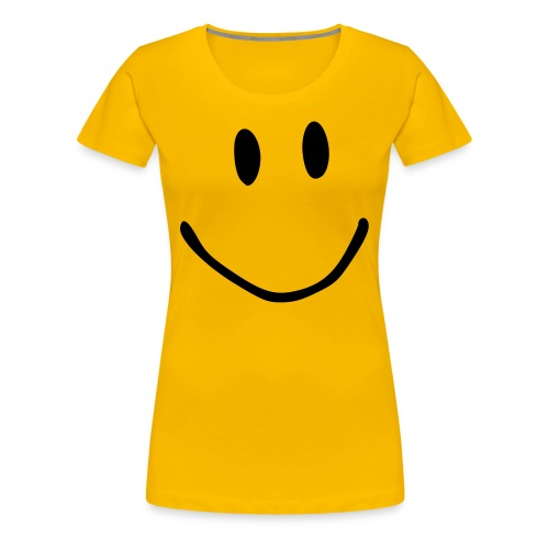 Smile yellow tee - Women's Premium T-Shirt