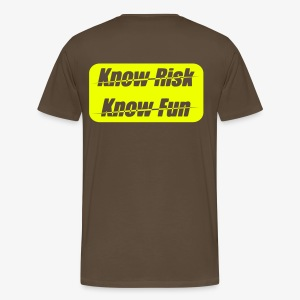 know risk / know fun - edelbraun (men) - Männer Premium T-Shirt