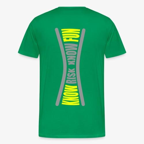 know risk / know fun - dunkelgrün (men) - Männer Premium T-Shirt