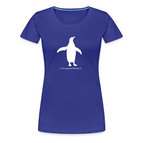 Damen Shirt Pinguin Vogel Flügel flugunfähig weiss Tiershirt Shirt Tiermotiv - Frauen Premium T-Shirt
