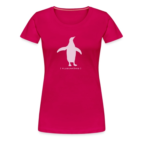 Damen Shirt Pinguin Vogel Flügel flugunfähig pink Tiershirt Shirt Tiermotiv - Frauen Premium T-Shirt
