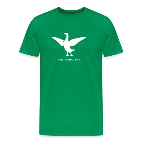 Herrenshirt Gans Gänserich Gänsebrust weiss Tiershirt Shirt Tiermotiv - Männer Premium T-Shirt