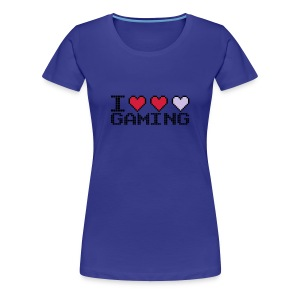 Love Gaming - Hearts - Women's Premium T-Shirt