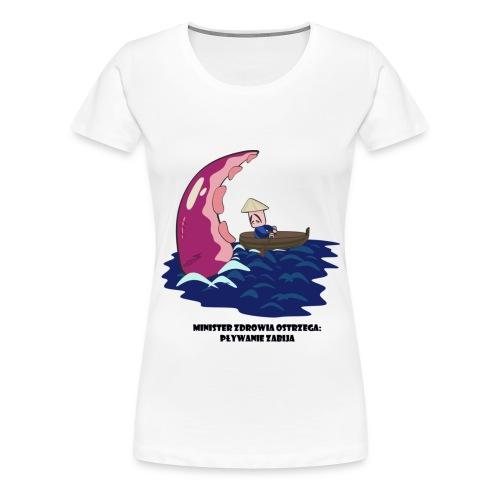 Pływanie zabija - Koszulka damska Premium