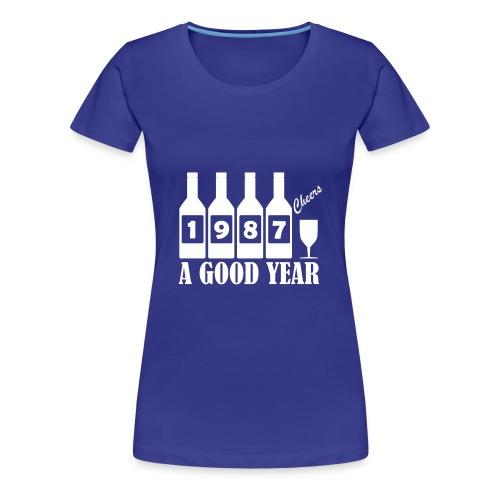 1987 Birthday T-shirt - A Good Year - Women's Premium T-Shirt