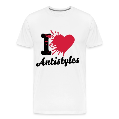 Antistyles - i love AS weiß - Männer Premium T-Shirt