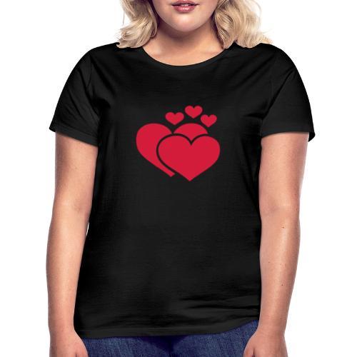 T-shirt Femme Famille de coeur - Family of hearts. - T-shirt Femme