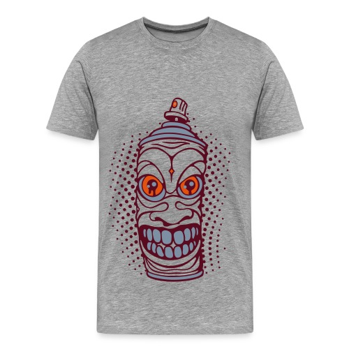 Grey Spray Tiki - Men's Premium T-Shirt