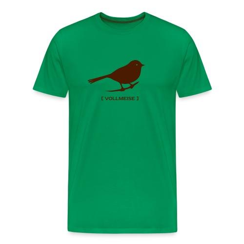 Männer Shirt Meise Vogel Vollmeise braun Tiershirt Shirt Tiermotiv - Männer Premium T-Shirt