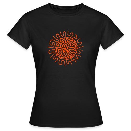 fluid magnet / chocolate+orange - Frauen T-Shirt