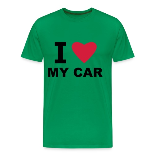 I love my car - Men's Premium T-Shirt