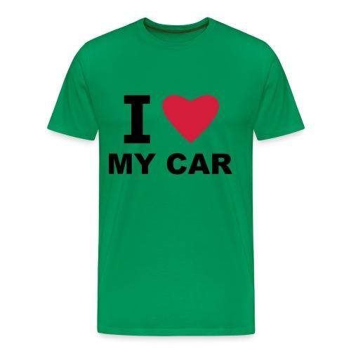 I love my car - Men's Premium T-Shirt