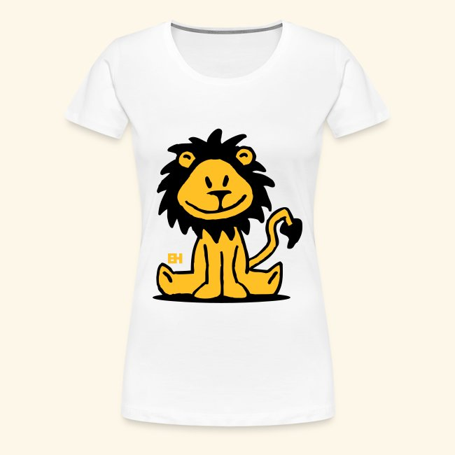 Shirt Mujer Blanca Premium Camiseta Grande Dibujo T Talla LeonVrouwen bYfym7gI6v