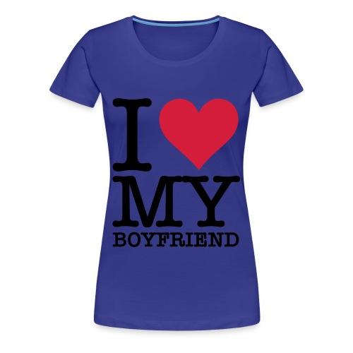 I love my Boyfriend - Frauen Premium T-Shirt