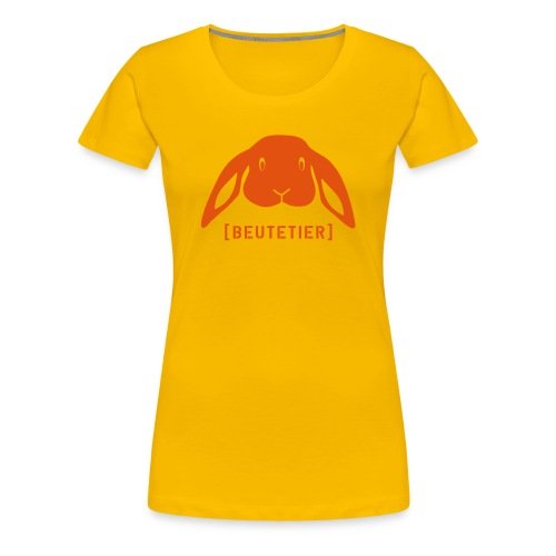 Frauen Girlie Shirt Hase Häschen Beutetier orange Tiershirt Shirt Tiermotiv - Frauen Premium T-Shirt