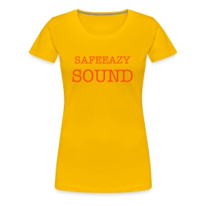 Women's Girlie Yellow official SAFE EAZY SOUND LADY'S T-SHIRT - Women's Premium T-Shirt