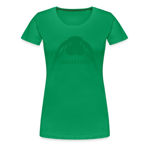 Frauen Girlie Shirt Hase Häschen Beutetier grün Tiershirt Shirt Tiermotiv - Frauen Premium T-Shirt