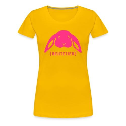Frauen Girlie Shirt Hase Häschen Beutetier pink Tiershirt Shirt Tiermotiv - Frauen Premium T-Shirt