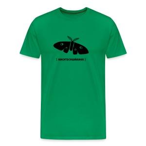 Männer Shirt Motte Nachtschwärmer schwarz Tiershirt Shirt Tiermotiv - Männer Premium T-Shirt