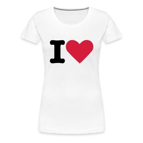 I Love - Camiseta premium mujer