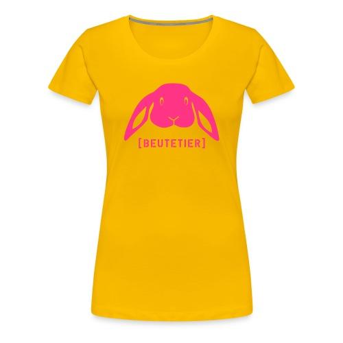 Frauen Girlie Shirt Hase Häschen Beutetier rosa Tiershirt Shirt Tiermotiv - Frauen Premium T-Shirt