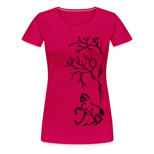 Frauen Premium T-Shirt - Pferdelandia,Frühling, Pferde, T-Shirt ! Frauen Pferde T-Shirt  von Pferdelandia hat schicke , leuchtete Farben ! Sehr hochwertig verarbeitet.