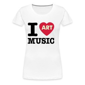 I (He)Art Music Glow In The Dark - Women's Premium T-Shirt