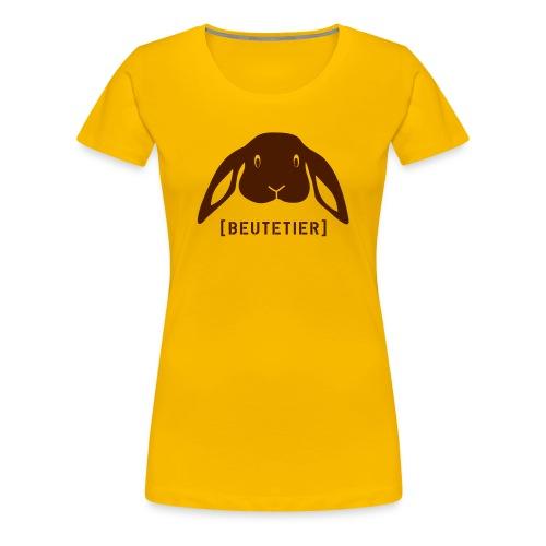 Frauen Girlie Shirt Hase Häschen Beutetier braun Tiershirt Shirt Tiermotiv - Frauen Premium T-Shirt