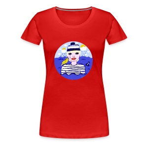 The sailor in love with the sea - Frauen Premium T-Shirt
