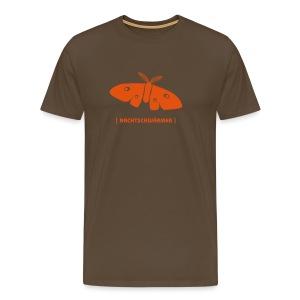 Männer Shirt Motte Nachtschwärmer orange Tiershirt Shirt Tiermotiv - Männer Premium T-Shirt