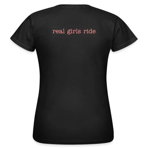 Girlie Shirt olive real girls ride - Frauen T-Shirt