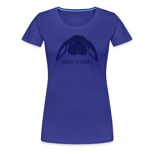 Frauen Girlie Shirt Hase Häschen Beutetier dunkelblau Tiershirt Shirt Tiermotiv - Frauen Premium T-Shirt
