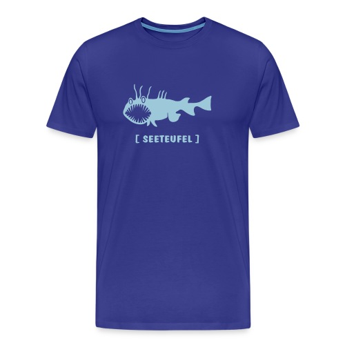Herren Shirt Fisch Raubfisch Seeteufel Sea Devil hellblau Tiershirt Shirt Tiermotiv - Männer Premium T-Shirt