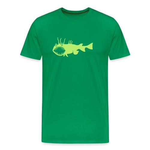 Herren Shirt Fisch Raubfisch Seeteufel Sea Devil grün Tiershirt Shirt Tiermotiv - Männer Premium T-Shirt