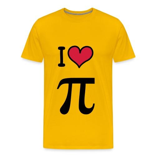 I Heart Pi - Men's Premium T-Shirt