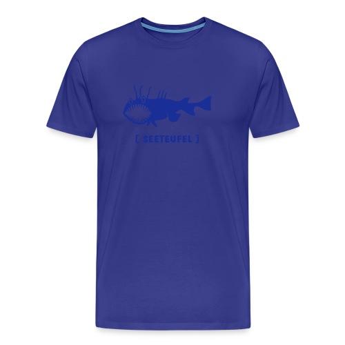 Herren Shirt Fisch Raubfisch Seeteufel Sea Devil blau Tiershirt Shirt Tiermotiv - Männer Premium T-Shirt