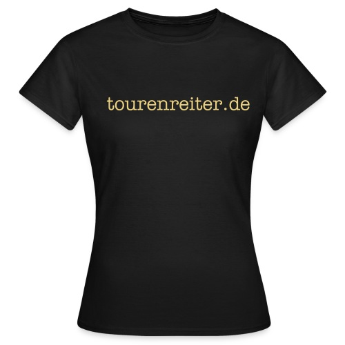Girlie Shirt dunkelbraun real girls ride - Frauen T-Shirt