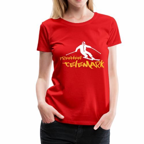 Freeheel Telemark Girlie Shirt - Frauen Premium T-Shirt