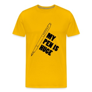 Funny T-shirt: My pen is huge - Mannen Premium T-shirt